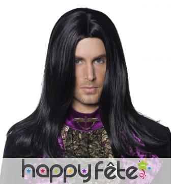 Perruque homme gothique noire