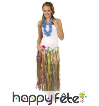 Pagne Hawaïen long multicolore en plastique