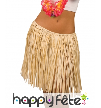Pagne Hawaïen mi-long couleur paille