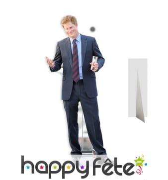 Prince Harry taille réelle en carton plat
