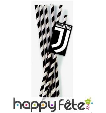 Pailles Juventus de 19,5cm, par 12, en carton