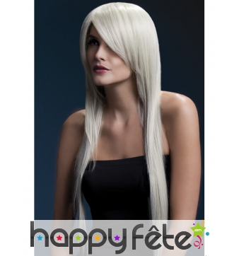Perruque long cheveux naturel blond cendré de 71cm
