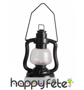 Petite lanterne noire lumineuse de 16 cm
