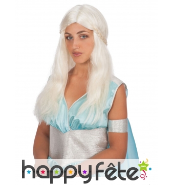 Perruque mère dragon Daenerys Game of Thrones