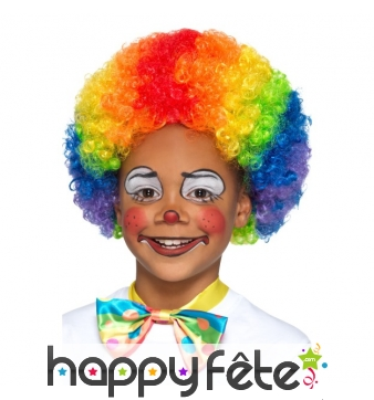 Perruque multicolore de petit clown