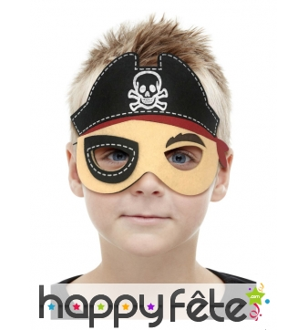 Petit masque de pirate pour enfant