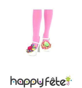 Pompons multicolores de chaussures