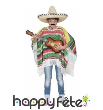 Poncho mexicain pour enfant