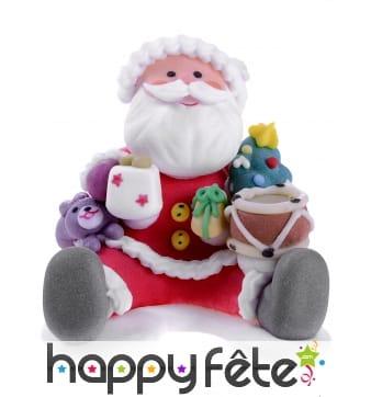 Père Noël assis en sucre de 6cm