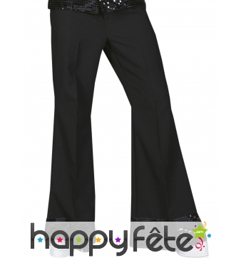 Pantalon noir disco bords recouverts de sequins