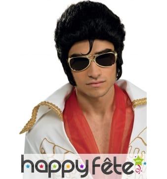 Perruque noire de Elvis Presley pour adulte