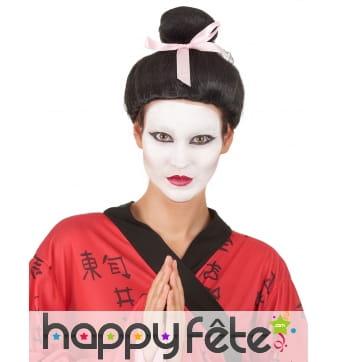 Perruque noire de Geisha pour femme