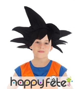 Perruque noire de Son Goku pour enfant,Dragon Ball