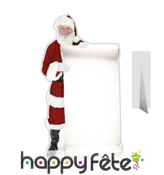 Père Noël plat avec grande liste à compléter