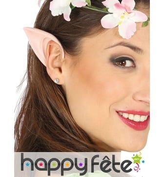 Petites oreilles d'elfe beige clair pour femme