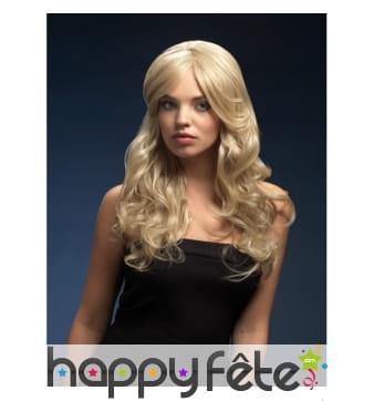 Perruque ondulée longue et blonde