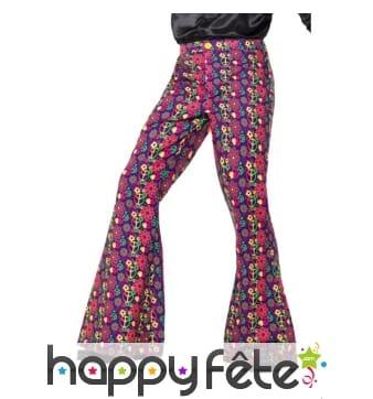 Pantalon psychédélique années 60, pour homme