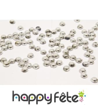 Perles plates argentées de 80gr