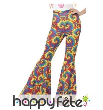Pantalon pat d'eph coloré hippie pour femme