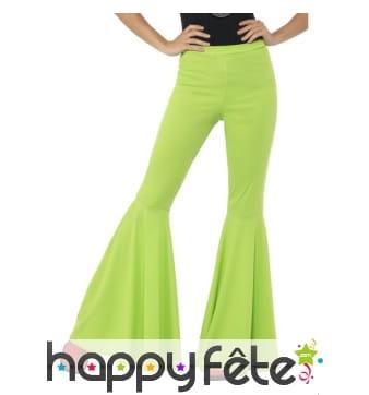 Pantalon patte d'eph vert pour femme