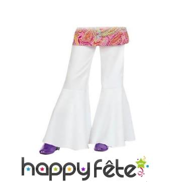 Pantalon patte def blanc mixte