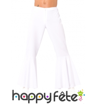 Pantalon patte def blanc