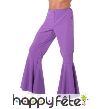 Pantalon patte def violet