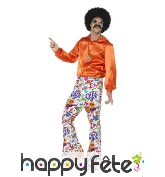 Pantalon pattes d'eph motifs années 60