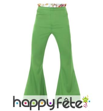 Pantalon pattes d'eph vert pour homme