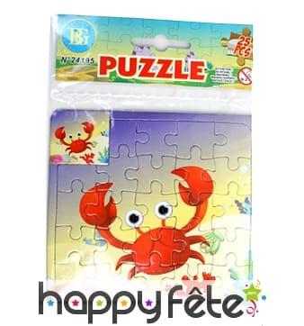 Petit puzzle de 25pc sur le thème de la mer