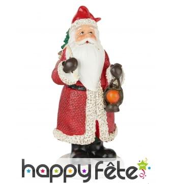 Petit Père Noël en résine de 13 cm