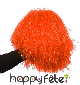 Pom-pom orange raphia nylon
