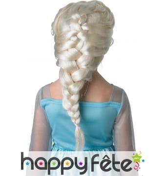 Perruque reine des neiges pour enfant