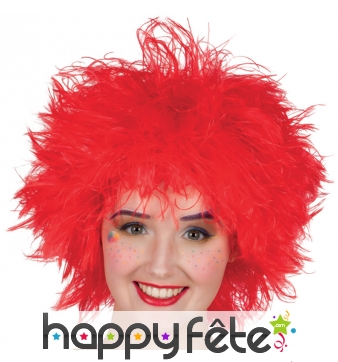 Perruque rouge ébouriffée de clown