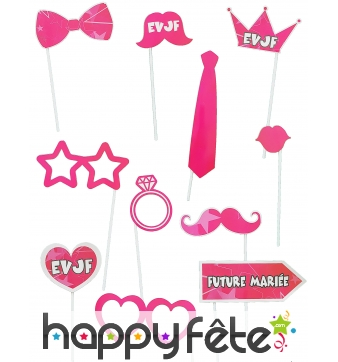 Photobooth roses enterrement de vie de jeune fille