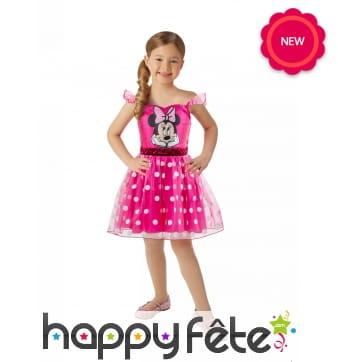 Petite robe Minnie rose pour enfant
