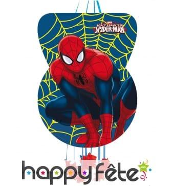 Pinata Spiderman à tirer de 46 x 65cm