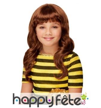 Perruque Santoro Bee marron pour enfant