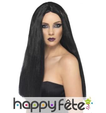 Perruque sorcière noire long