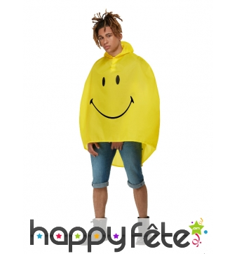 Poncho Smiley pour adulte