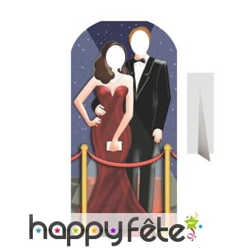 Passe-têtes couple en tenue de soirée