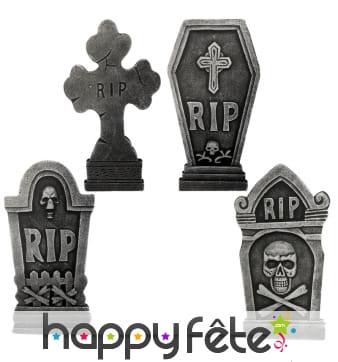Pierres tombales décoratives pour Halloween