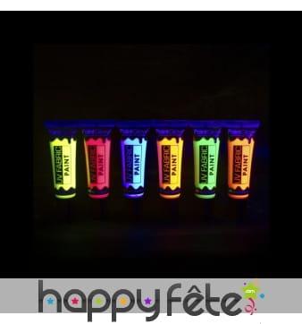 Peinture textile fluo, UV