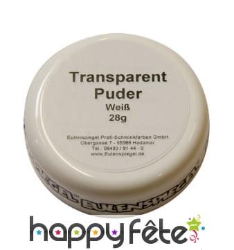 Poudre transparente fixatrice pour maquillage