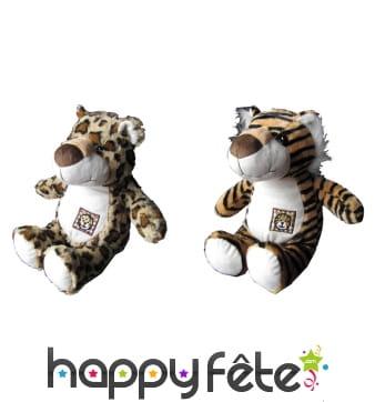 Peluche tigre ou léopard rigolo