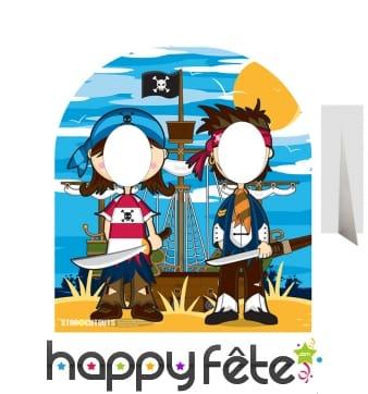Passe-têtes pour enfant couple de pirates