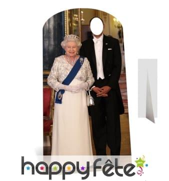 Passe tête roi d'Angleterre et Elizabeth 2