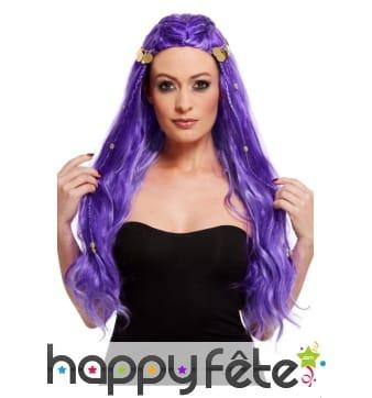 Perruque violette de diseuse de bonne aventure