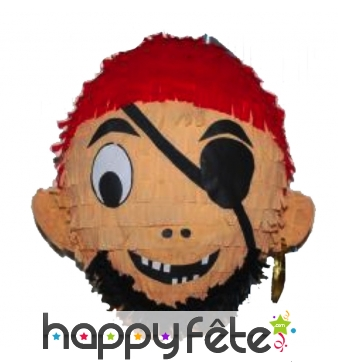Pinata visage de pirate