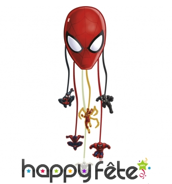 Pinata visage de Spiderman à tirer